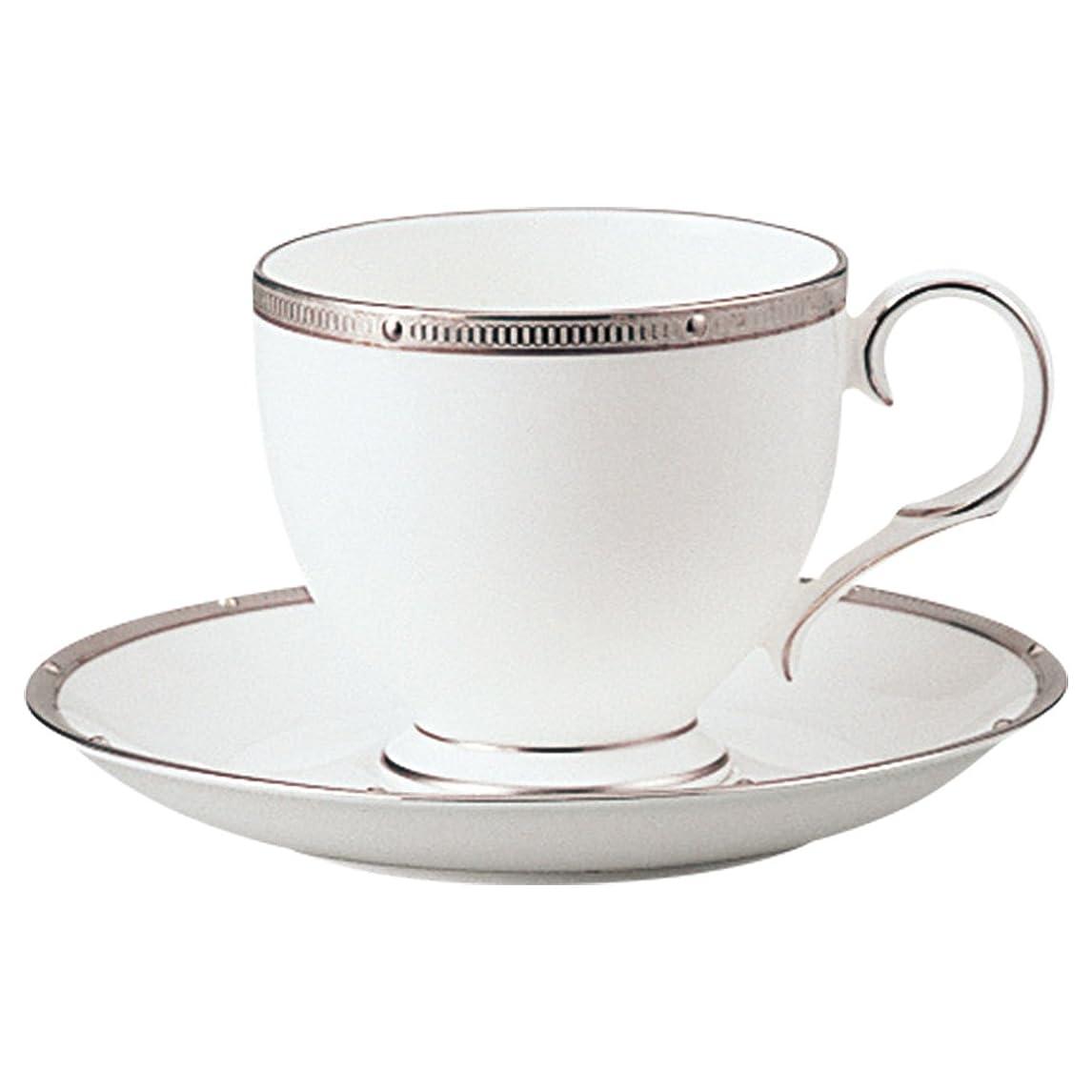 プランタープレミアキウイNoritake ノリタケ カップ & ソーサー ( コーヒー ティー 兼用) 250cc ロシェルプラチナ    ボーンチャイナ T50788A/4795