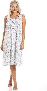 Femme rose à manches courtes doux Poly Coton Jersey Chemise De Nuit Nuisette L 18-20 uniquement