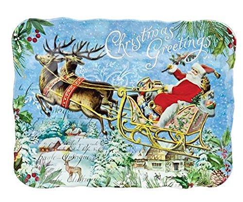 Michel Design Works Melamine Christmas Cookie Serving Tray, Christmas Joy