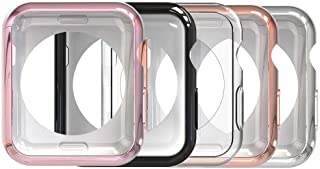 Simpeak Soft Back Case Compatible with Apple Watch Series 4 Series 5 44mm, Pack of 5, Slim, Transparent, Black, Rose Pink,...