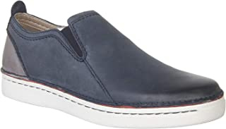 Clarks Men's Kitna Easy Navy Leather Casual Shoes
