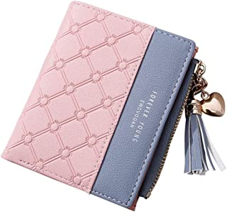SYGA Wallet for Women Small Compact Wallet Bifold, Credit Card Holder Mini Bifold Pocket Wallet(Pink)