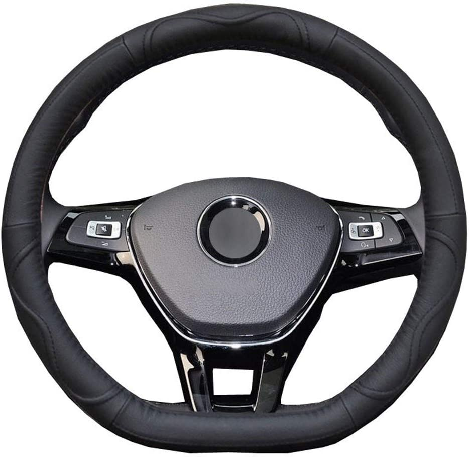 SHENYF Genuine Import Leather D Shape Car Cover Wheel for Steering Volk Max 90% OFF