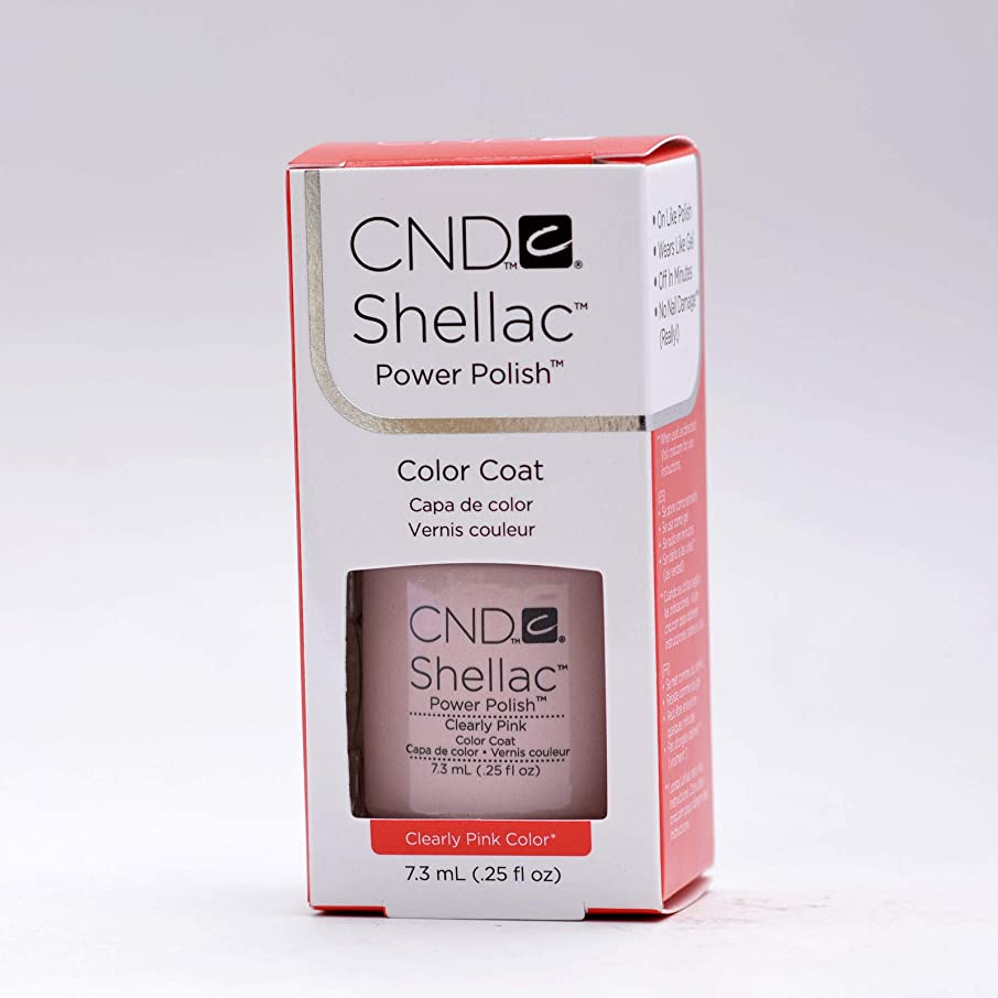 【CND 】Shellac?ソークオフカラージェル?Clearly Pink 7.3ml[CND-40523]