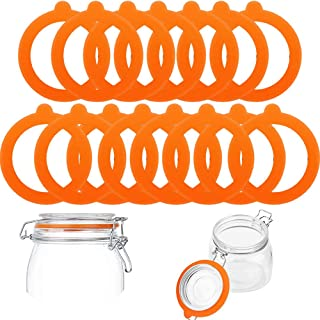 15 Pcs Replaceable Silicone Sealing Gasket, Airtight Rubber Seals Rings for Mason Jar Lids, Sealing Rings for Regular Mout...
