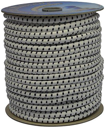 Corderie Italiane 6005087 Treccia Elastica, 8 mm-50 mt, Bianco, blanco