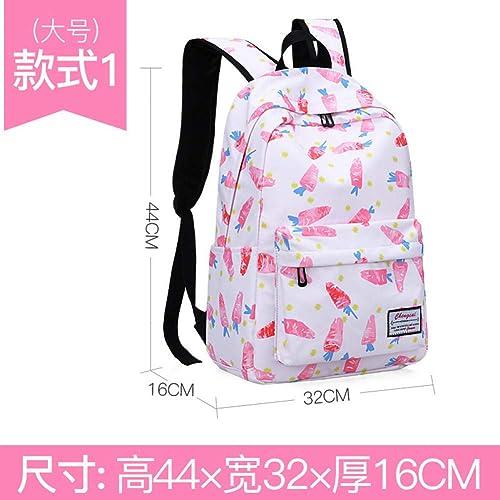 SGLOI Studentenrucksack Mode Rucks e Cartoon Blumendruck Kinder Schultaschen Kinder Rucksack Leinwand Schultaschen für Teenager mädchen Studenten Tasche
