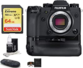Fujifilm X-H1 Mirrorless Digital Camera Body with VPB-XH1 Vertical Power Booster Grip Kit Bundle; Includes: SanDisk 64GB Extreme SDXC Memory Card, Card Reader, Memory Card Wallet, Lens Cleaning Kit