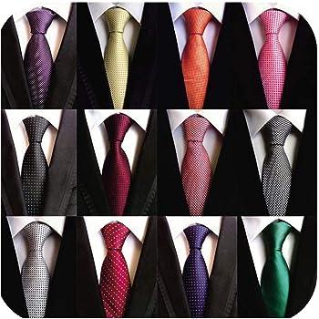 WeiShang Lote de 6 corbatas cl/ásicas para hombre tejidas en tejido jacquard 100/% seda