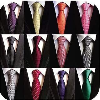 Weishang Lot 12 PCS Classic Men's Tie Silk Necktie Woven JACQUARD Neck Ties