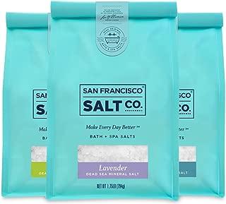 Dead Sea Mineral Bath Salt Variety 3 Pack: Pure Unscented Dead Sea Salt, Lavender Dead Sea Salt, and Eucalyptus Dead Sea Salt (1.75 lb bag of each) by San Francisco Salt Company