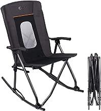 high back folding rocking chair