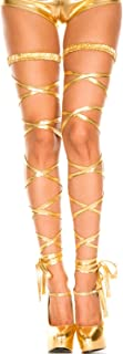 Naimo Women's Sexy Metallic Exotic Leg Wraps for Raves, Dancing, Music Festivals