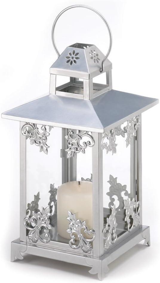 Nashville-Davidson Mall Silver Scrollwork Candle Lantern Wedding Center of Pack 10 Piece Rare