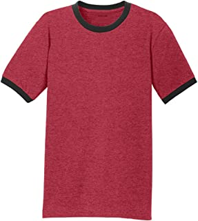 Men's Soft 5.4-Oz 100% Cotton Ringer T-Shirts in Adult Sizes: S-4XL