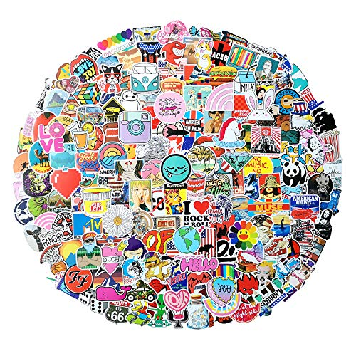 300Pcs Random Sticker(50~1000 Pcs),Vinyls Stickers for Waterbottle,Snowboard,Luggage,Motorcycle,iPhone,MacBook,Skateboards, Luggage