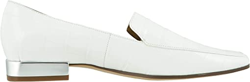 White Croco Print Leather