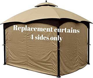 Forditex Gazebo Curtains for 4 Sides - Patio Canopy Gazebo Curtains - 10x12 Gazebo Replacement Canopy - Privacy Panels for Gazebo - 10x12 Canopy - Outdoor Gazebo Curtains ONLY