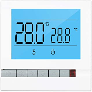 Fesjoy Programmable Smart Thermostat for Water Heating Large LCD Screen with Backlight Water Foor Heating Temprature Contr...