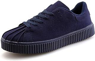Shoes スニーカー 男性 ファッション カジュアル ローガン レトロ シェル スポーツ シューズ Comfortable (Color : 青, サイズ : 26 CM)