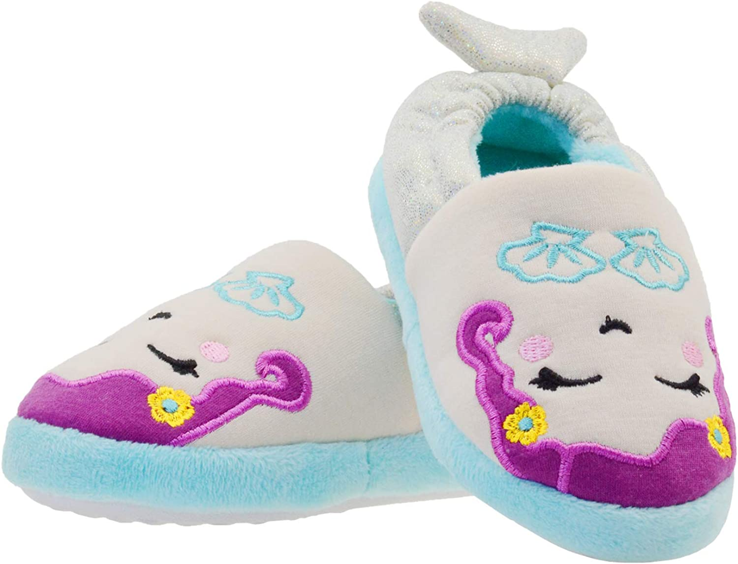 LseLom Girls Slippers Cozy Cute Mermaid Quality inspection with Foam I Memory sold out Style