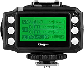 TTL HSS Flash Trigger for Canon,Pixel King PRO Transceiver 2.4G Wireless Control for Canon Speedlite TTL, M Mode Output Control, Group Control High-Speed Flash Trigger