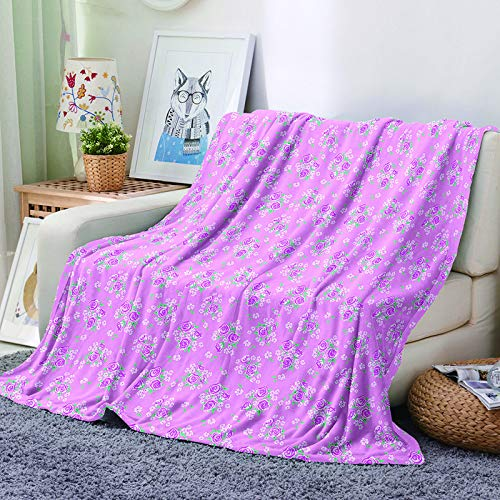Michance Thick, Soft And Comfortable Blanket Suitable For Blankets For Lounges, Airports, Buses Digital Realistic Pattern Printing
