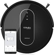 Cecotec Conga Serie 1390 - Robot aspirador con mapeo y app, navegación inteligente iTech Gyro, 7 modos de limpieza con muro magnético, 220-240/50 Hz, 58 x 38 x 11 cm