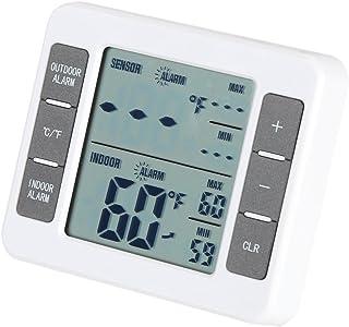 Digital LCD Trådlös inomhus / utomhus kylskåp frystermometer med med hörbart larm