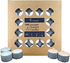 LUME 420107 Tealight Candle 8 Hour Box 100