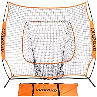 Sponsored Ad - Outroad Baseball Training Net 5`x5` or 7`x7` Batting and Pitching Portable Practice Net with Bow Frame and ...