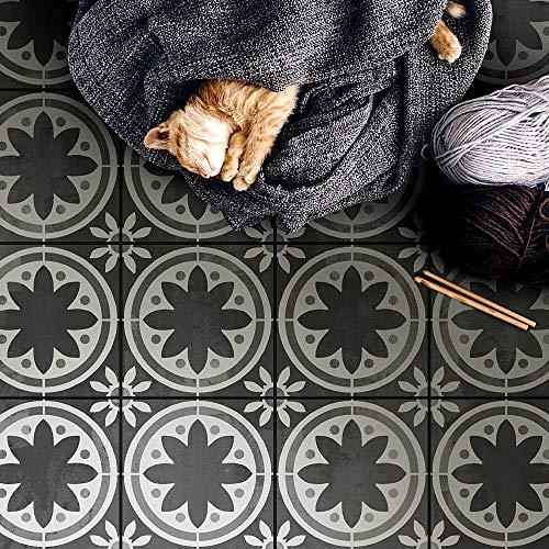 Primavera Tile Stencil - Cement Tile Stencils - DIY Faux Portuguese Tiles - Reusable Stencils for Home Decor (Large 12'x12')