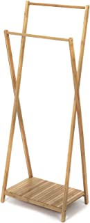 Compactor Home RAN6986 Portant Double Bambou Naturel 60 x 34 x 142 cm