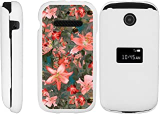 TurtleArmor   Compatible with ZTE Cymbal Case   Z320 [Slim Duo] Slim Snap On 2 Piece Hard Cover Protector Case Girl on White - Captivating Pink Floral