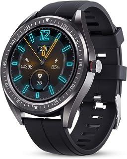 JessFash Reloj Inteligente para Hombre, Reloj Deportivo Deportivo IP68, podómetro de medición de frecuencia cardíaca Resistente al Agua, Monitor de sueño, rastreador de Actividad Inteligente