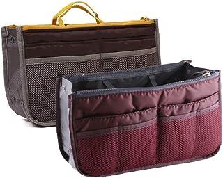 NOVAGO Borsa Organizer, Organizzatore della borsa (2 Pack - Grigio e Borgogna)