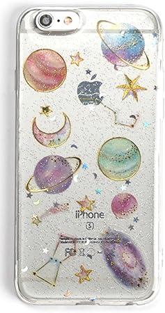 Coque Iphone 6 Plus Briller, Coque Iphone 6S Plus Galaxie, Nébuleuse Espace Planète Étoiles Modèle Clair Doux Svelte Coque de TPU pour Iphone 6 Plus ...