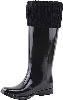 Michael Michael Kors Womens Mandy Rainboot Round Toe Knee High, Black, Size 6.0