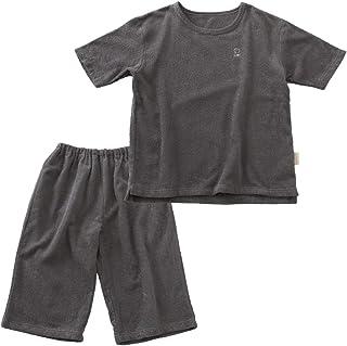 ナイスデイ ルームウェア 汗かきさん用 グレー Mサイズ 綿100% タオル パイル さらさら ボリューム 吸水性 着るタオルケット 上下セット 36352213