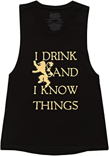 Game of Thrones I Drink & I Know Things Juniors Muscle Tank Top