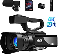 "Video Camera 4K Camcorder Vlogging Camera for YouTube IR Night Vision 48MP 30FPS 3"" Touch Screen 30X Digital Zoom Camera Recorder with Microphone"