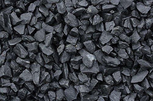 Ziersplitt Basaltsplitt 16-32 mm 25 kg Sack Splitt Gabionenfüllung Deko Garten