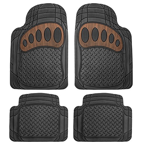 FH GROUP F11310BLACK All Weather Floor Mat, 4 Piece (Heavy Duty)