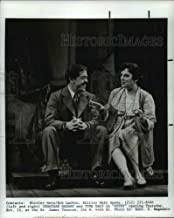 Historic Images - 1990 Press Photo Jonathan Hardy and Tyne Daly in Gypsy at St James Theatre in NY