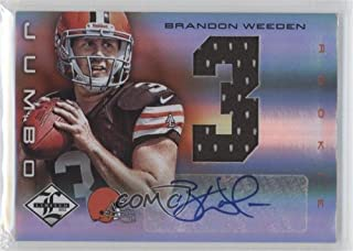 Brandon Weeden #1/49 (Football Card) 2012 Limited - Rookie Jumbo Materials - Jersey Numbers Signatures [Autographed] #6