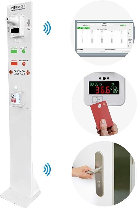 termoscanner professionale da ingresso  wifi in live,rfid,gestione accessi,temperatura perfetta B08HHBGSP6