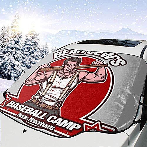 SGT Donny Donowitz L'orso ebreo Campo da baseball Bastardi senza gloria Copertura parabrezza per auto Parabrezza,Parasole per rimozione ghiaccio,Misura per auto universali