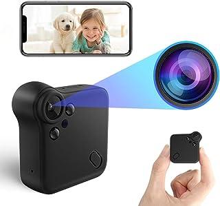 【2020新版】超小型カメラ 隠しカメラ HD1080P超高画質防犯カメラ監視カメラ WiFi対応スパイカメラ ワイヤレス ビデオカメラ 暗視録画機能付き 動体検知 広角150° IOS/Android対応 遠隔監視・操作 日本語取扱書付 ホッ...