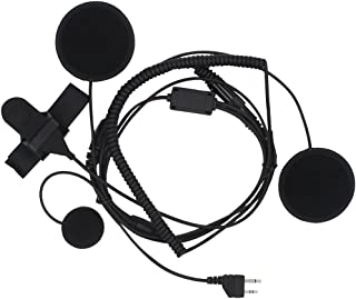 KENMAX Full Face PTT Headset Earpiece with Finger PTT for Midland LXT435 G225 LXT320 LXT320 LXT324
