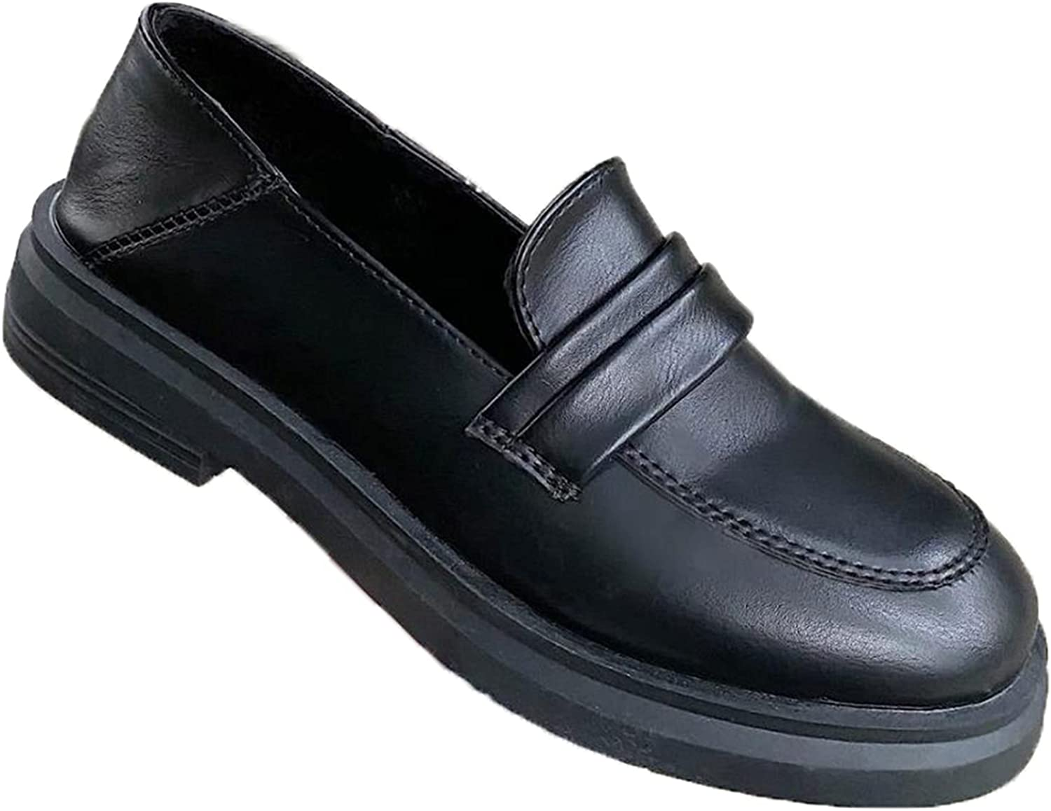Loafers for Women Simple Round Styl Low-Cut Toe Slip-On Japanese Charlotte Super Special SALE held Mall
